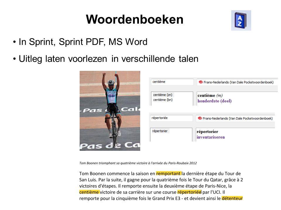Woordenboeken In Sprint, Sprint PDF, MS Word