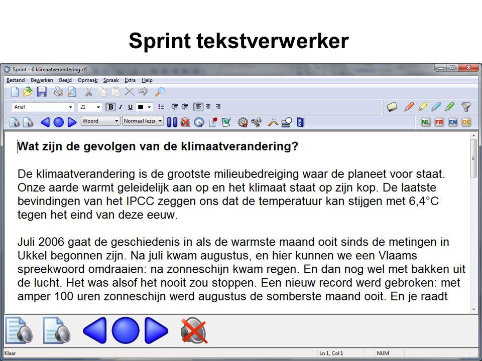 Sprint tekstverwerker