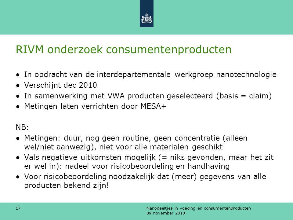 RIVM onderzoek consumentenproducten