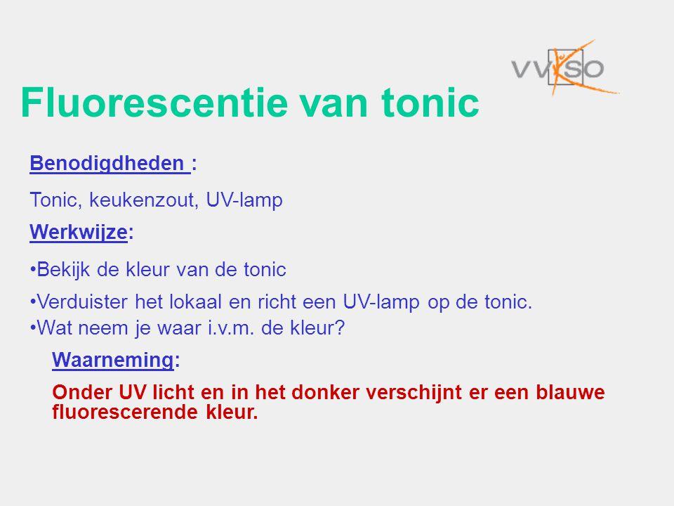 Fluorescentie van tonic