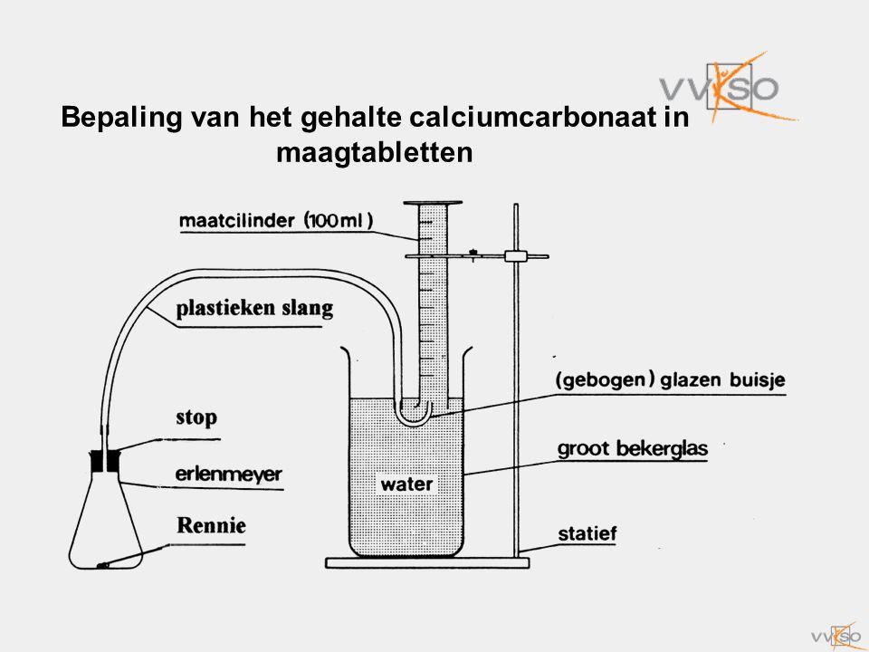 Bepaling van het gehalte calciumcarbonaat in maagtabletten