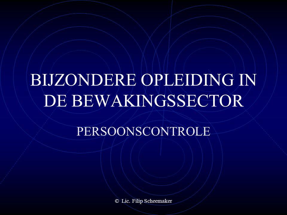 BIJZONDERE OPLEIDING IN DE BEWAKINGSSECTOR