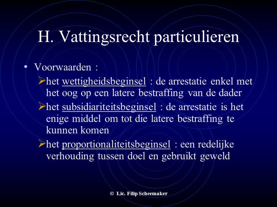 H. Vattingsrecht particulieren