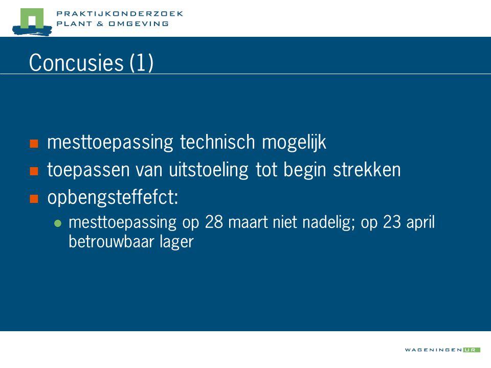 Concusies (1) mesttoepassing technisch mogelijk