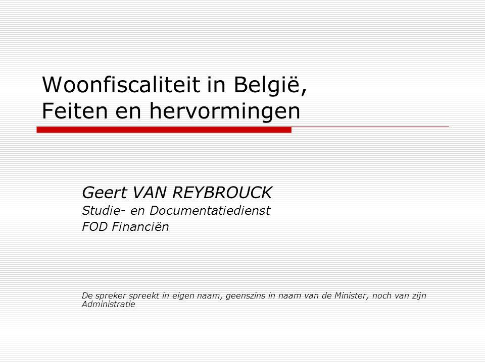 Woonfiscaliteit in België, Feiten en hervormingen