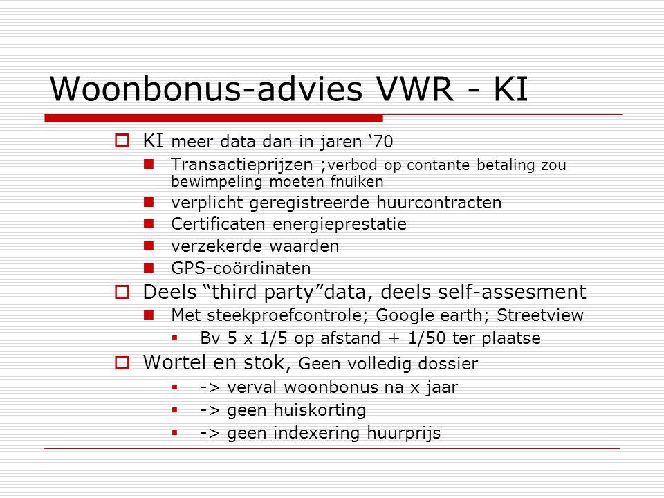 Woonbonus-advies VWR - KI