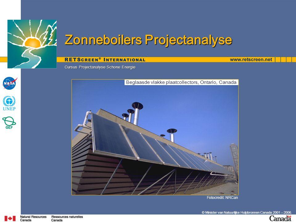 Beglaasde vlakke plaatcollectors, Ontario, Canada