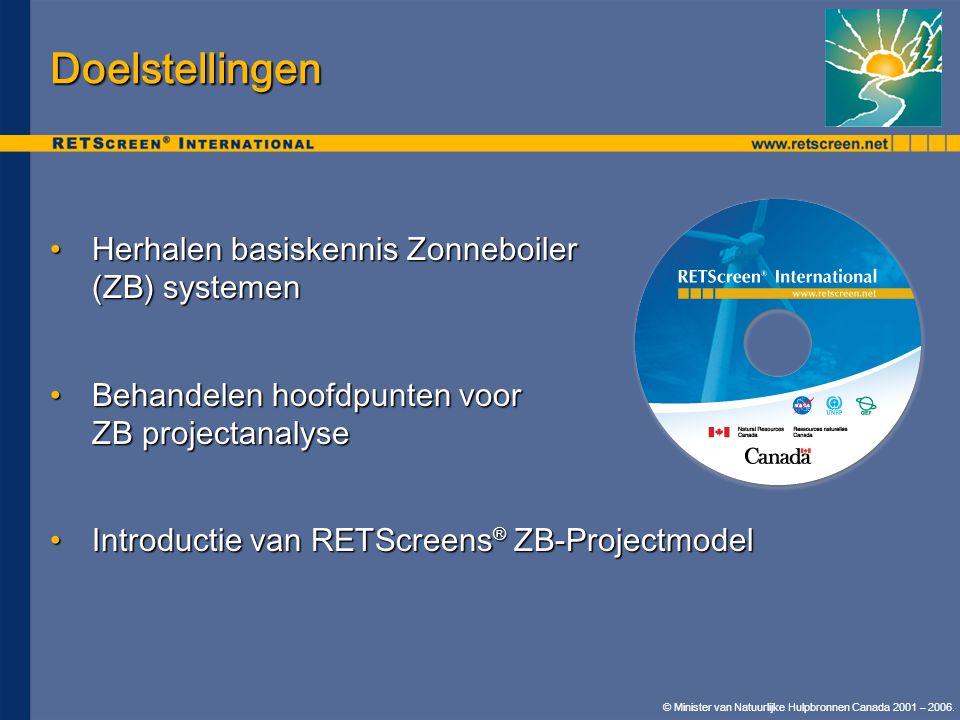 Doelstellingen Herhalen basiskennis Zonneboiler (ZB) systemen
