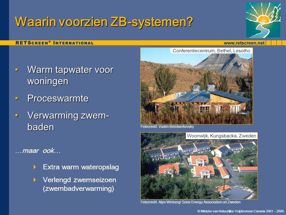 Waarin voorzien ZB-systemen