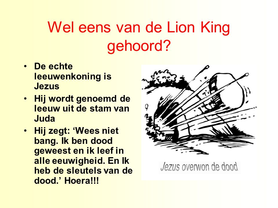 Wel eens van de Lion King gehoord