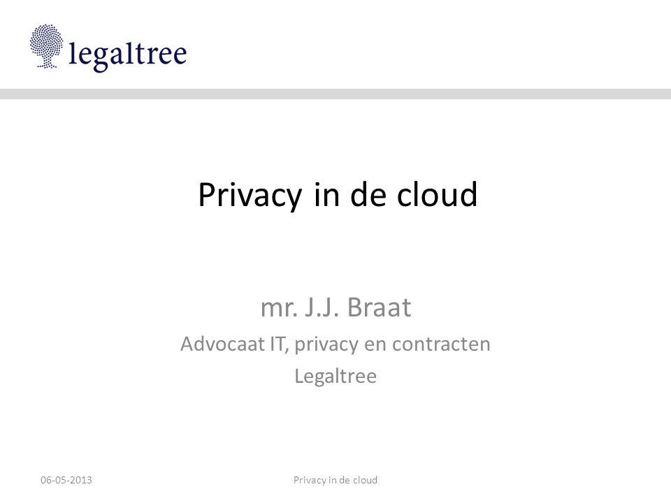 mr. J.J. Braat Advocaat IT, privacy en contracten Legaltree