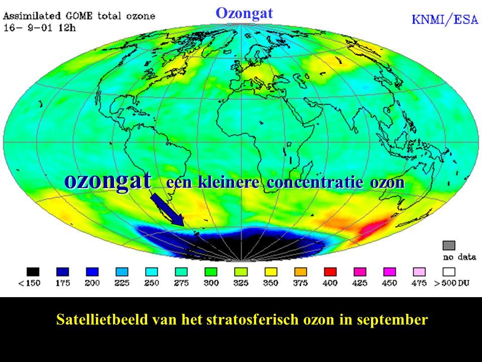ozongat een kleinere concentratie ozon Ozongat