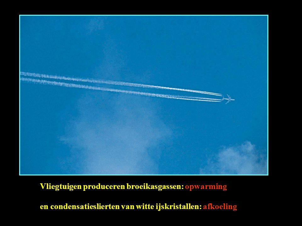 Vliegtuigen produceren broeikasgassen: opwarming