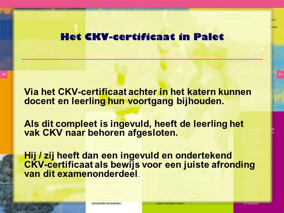 Het CKV-certificaat in Palet