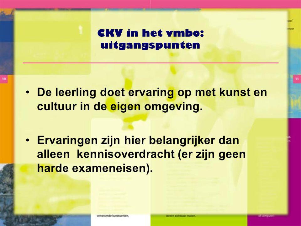 CKV in het vmbo: uitgangspunten