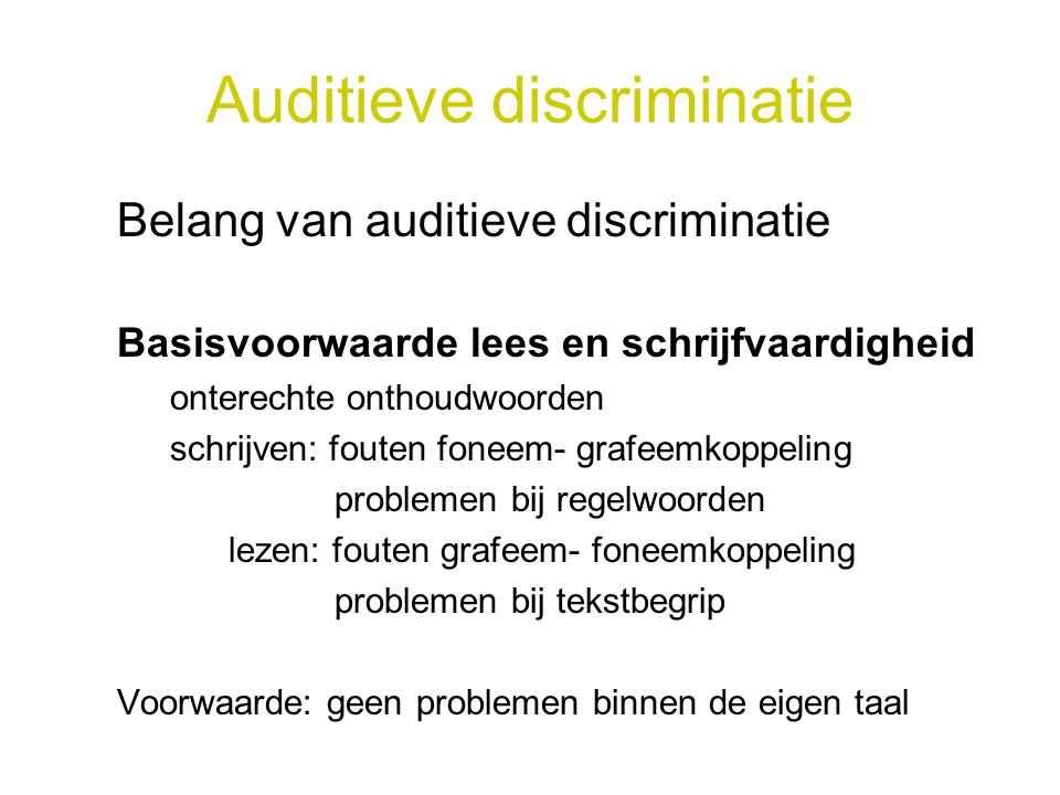 Auditieve discriminatie