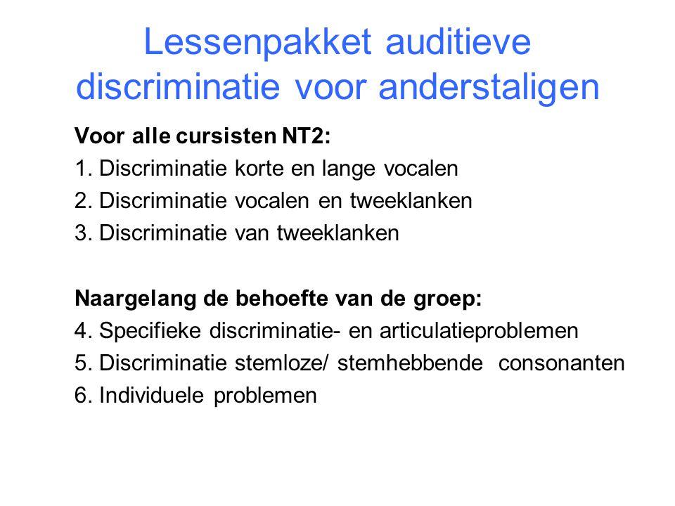 Lessenpakket auditieve discriminatie voor anderstaligen