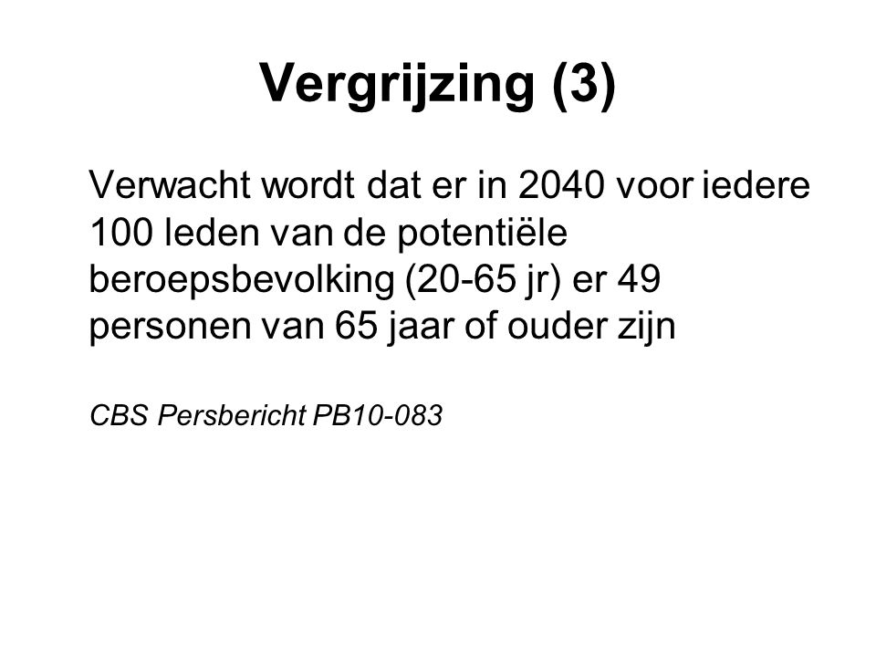 Vergrijzing (3)