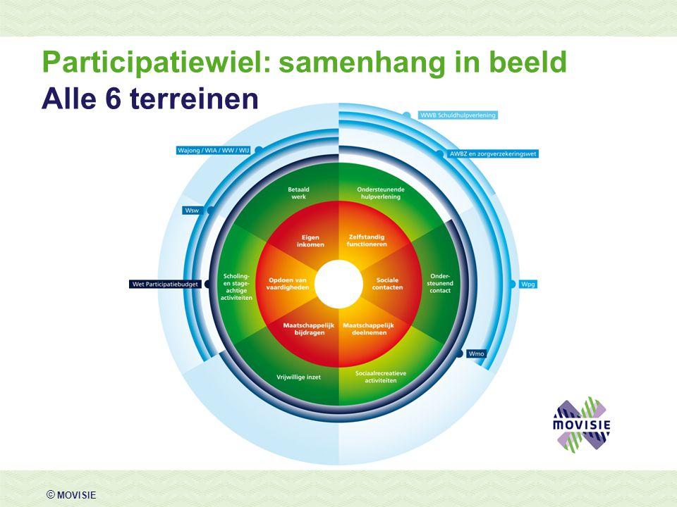 Participatiewiel: samenhang in beeld Alle 6 terreinen