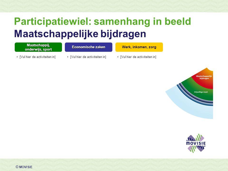 Participatiewiel: samenhang in beeld Maatschappelijke bijdragen