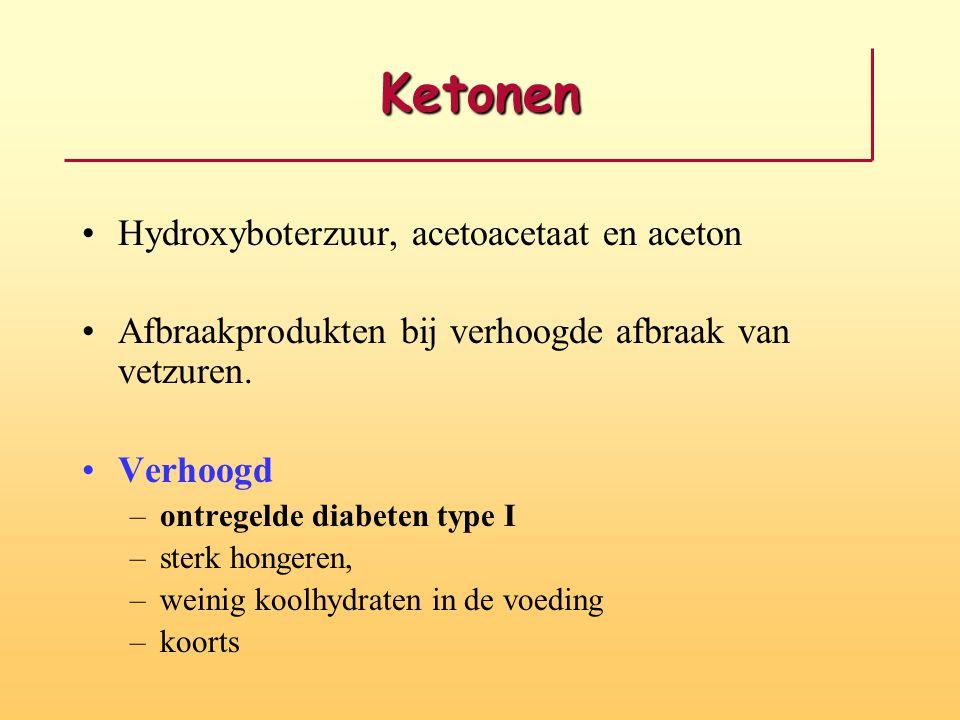 Ketonen Hydroxyboterzuur, acetoacetaat en aceton