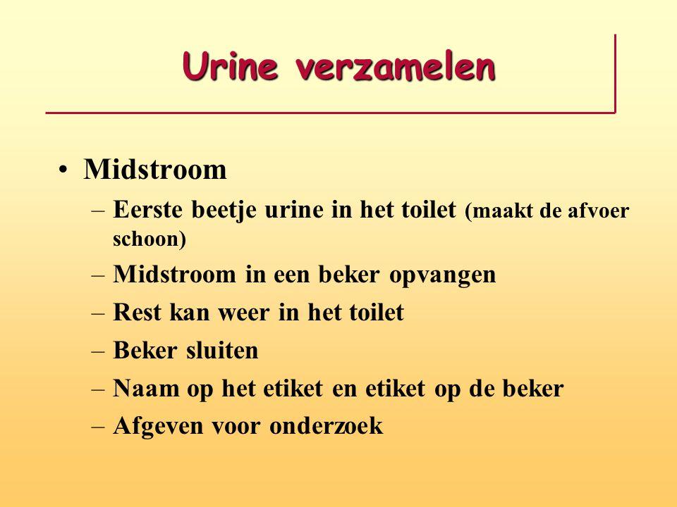 Urine verzamelen Midstroom