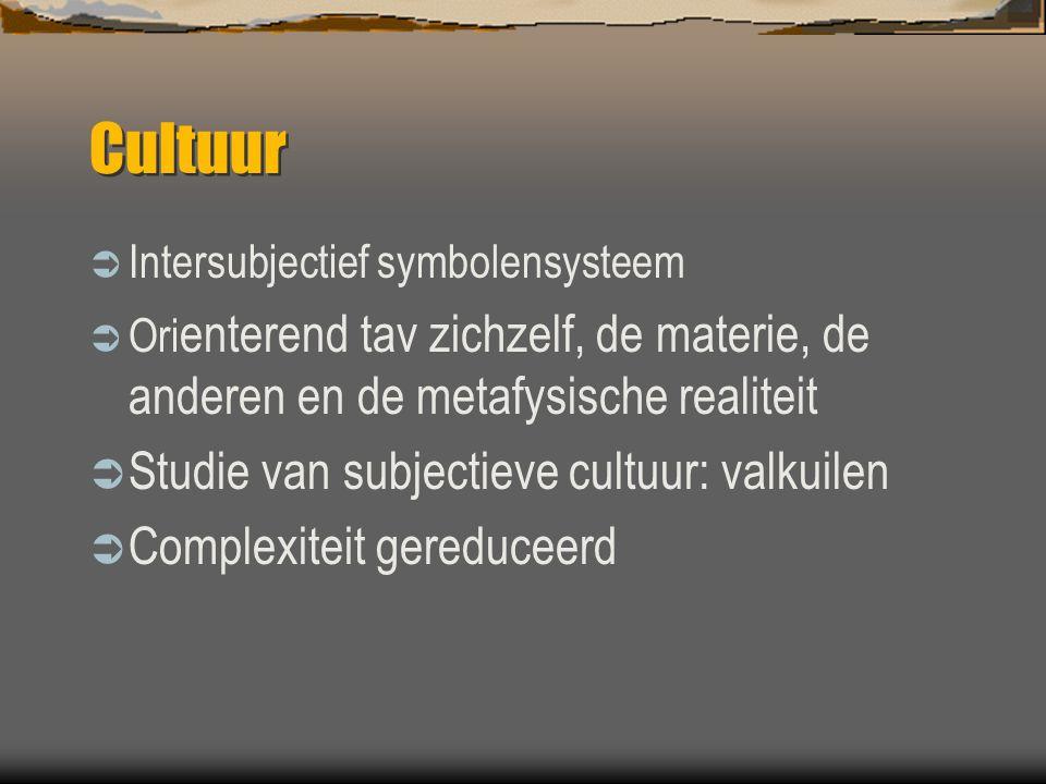 Cultuur Studie van subjectieve cultuur: valkuilen
