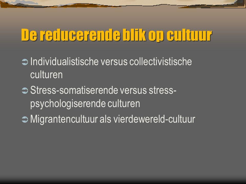 De reducerende blik op cultuur