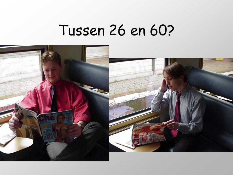 Tussen 26 en 60