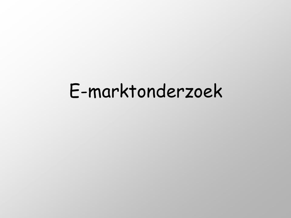 E-marktonderzoek