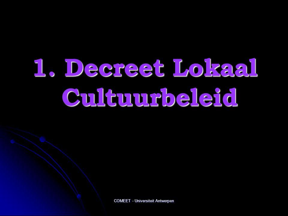 1. Decreet Lokaal Cultuurbeleid