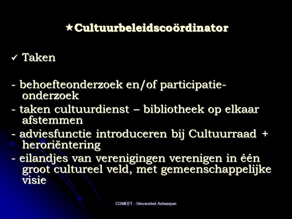 Cultuurbeleidscoördinator