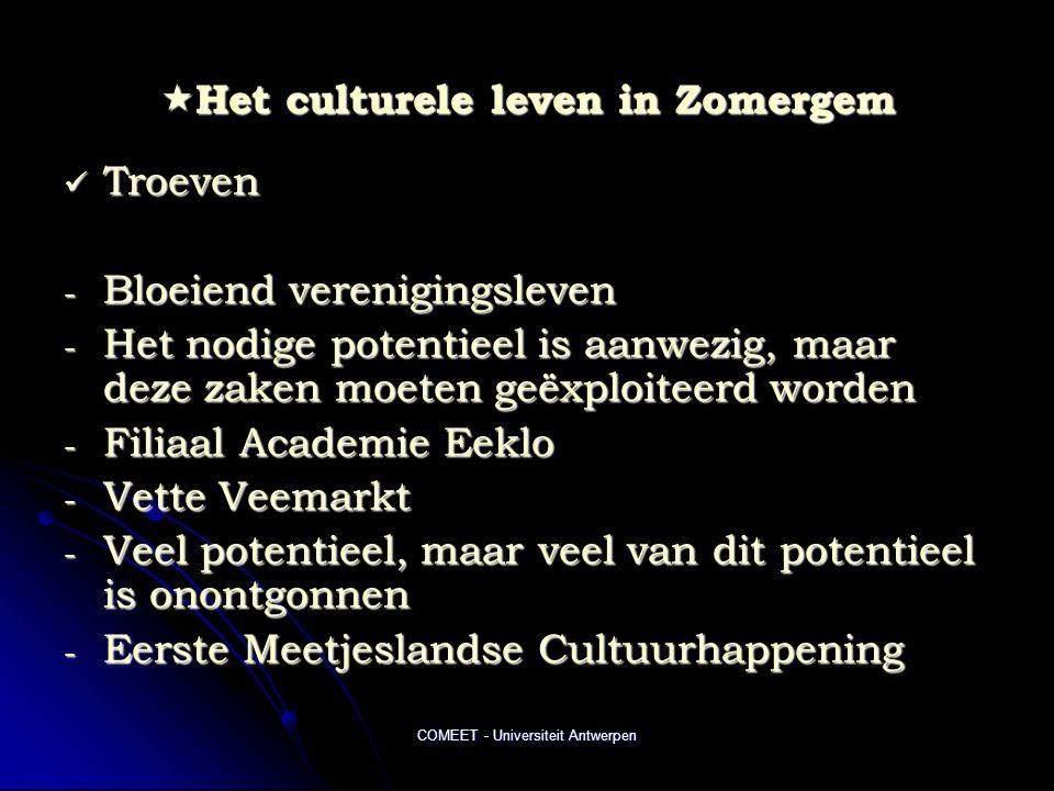 Het culturele leven in Zomergem