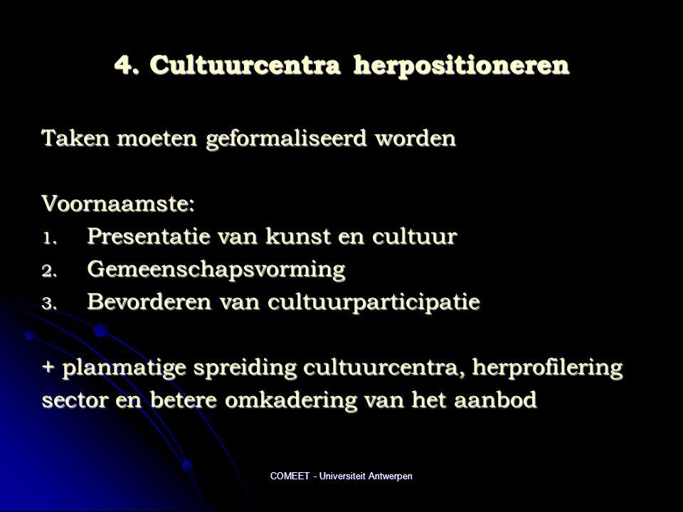 4. Cultuurcentra herpositioneren