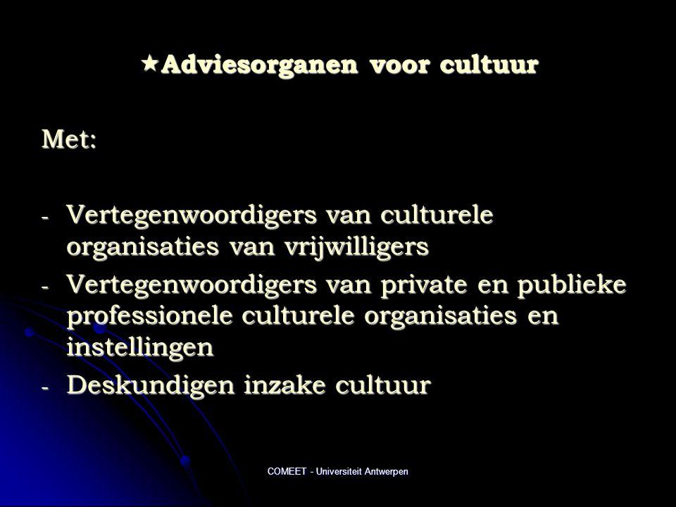 Adviesorganen voor cultuur