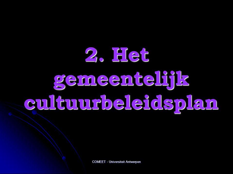 2. Het gemeentelijk cultuurbeleidsplan