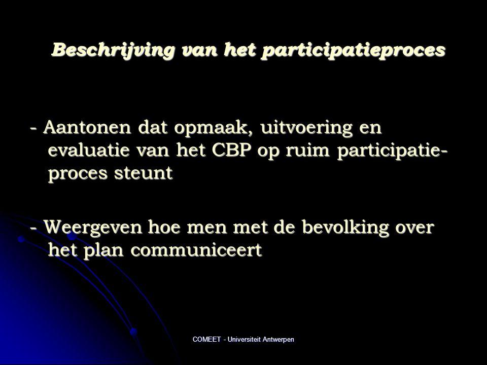Beschrijving van het participatieproces