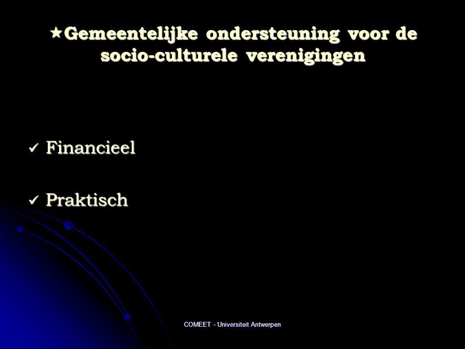 Gemeentelijke ondersteuning voor de socio-culturele verenigingen