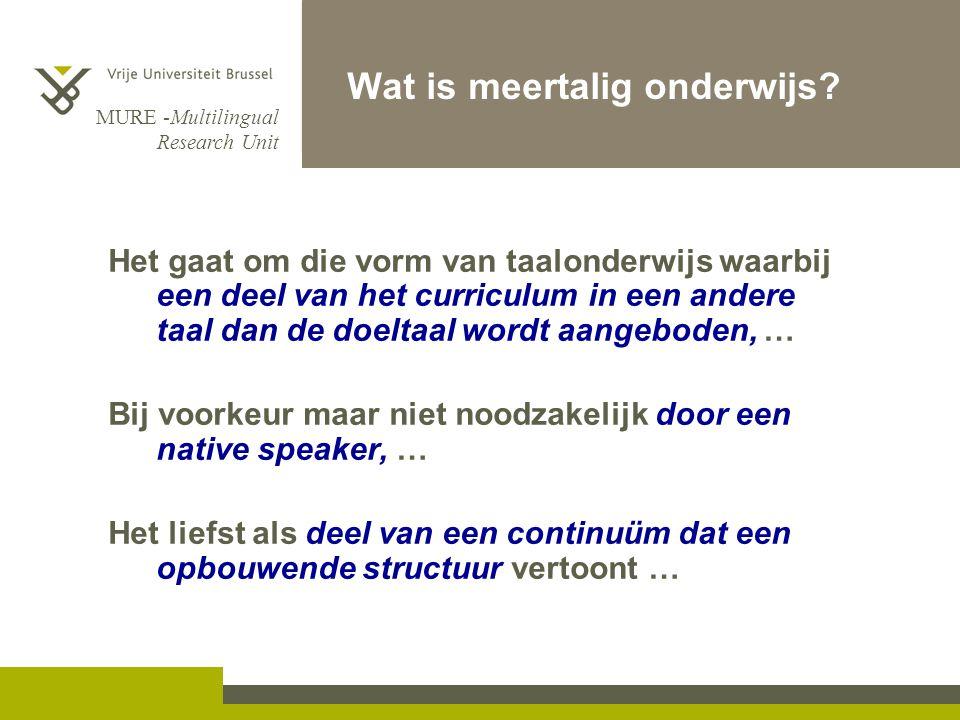 Wat is meertalig onderwijs