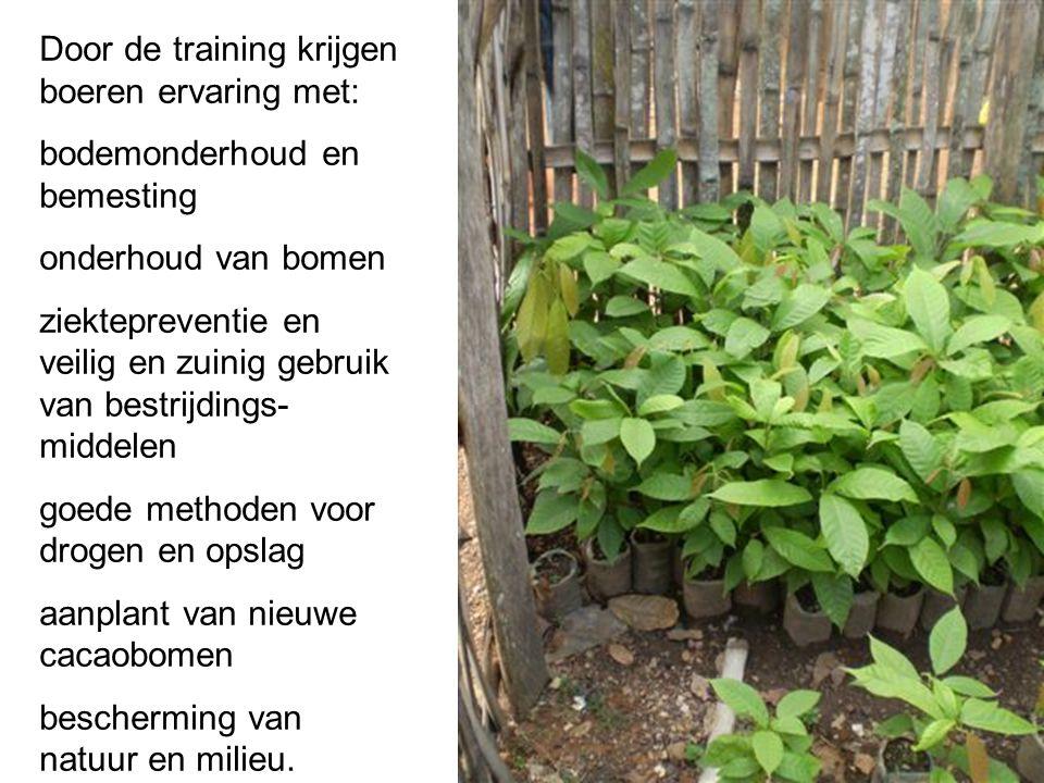 Door de training krijgen boeren ervaring met: