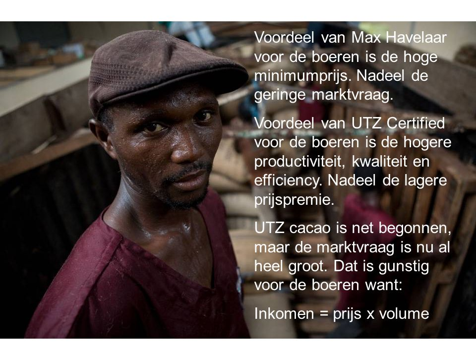 Voordeel van Max Havelaar voor de boeren is de hoge minimumprijs