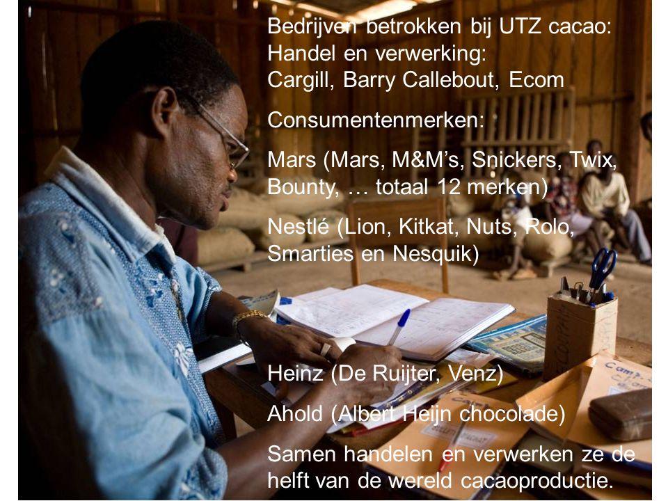Bedrijven betrokken bij UTZ cacao: Handel en verwerking: Cargill, Barry Callebout, Ecom