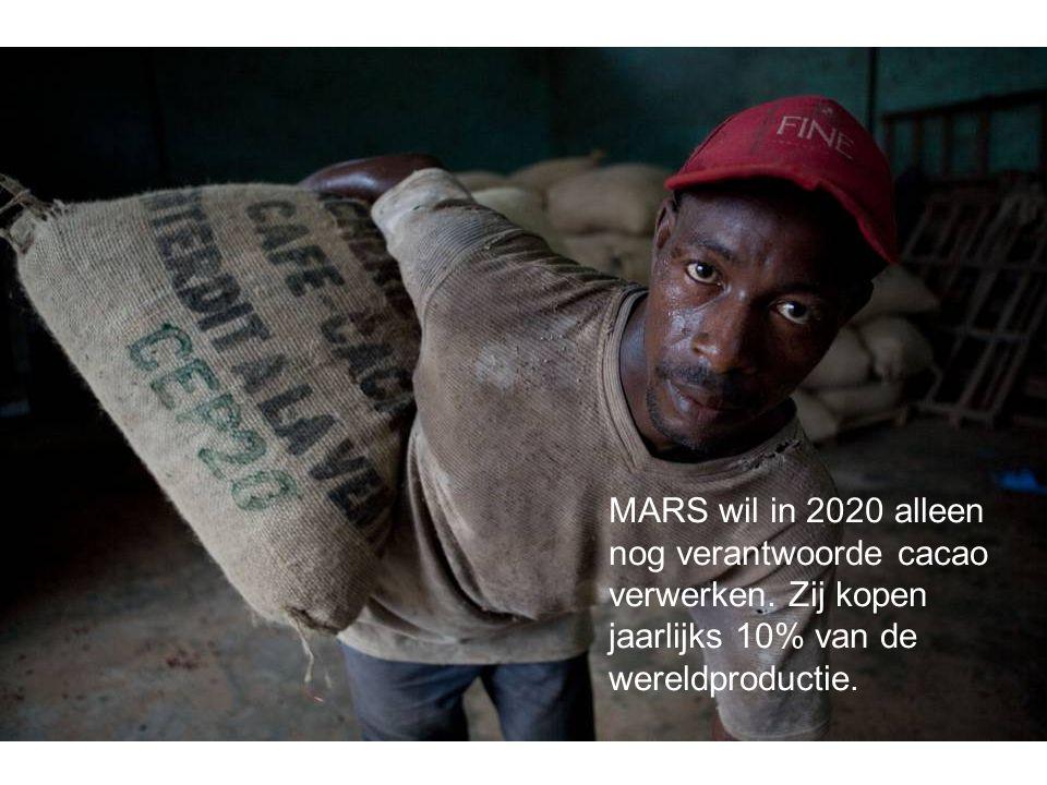 MARS wil in 2020 alleen nog verantwoorde cacao verwerken