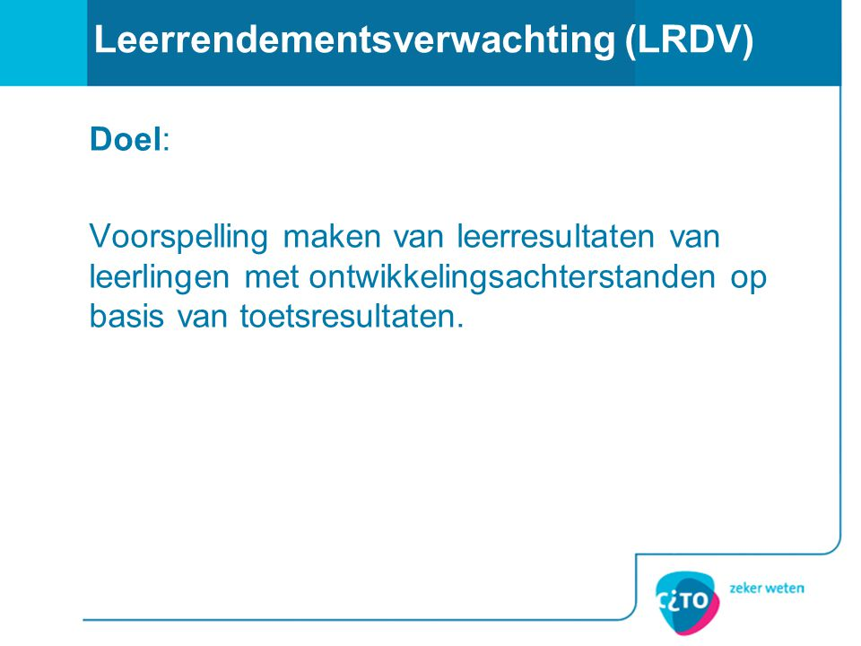 Leerrendementsverwachting (LRDV)