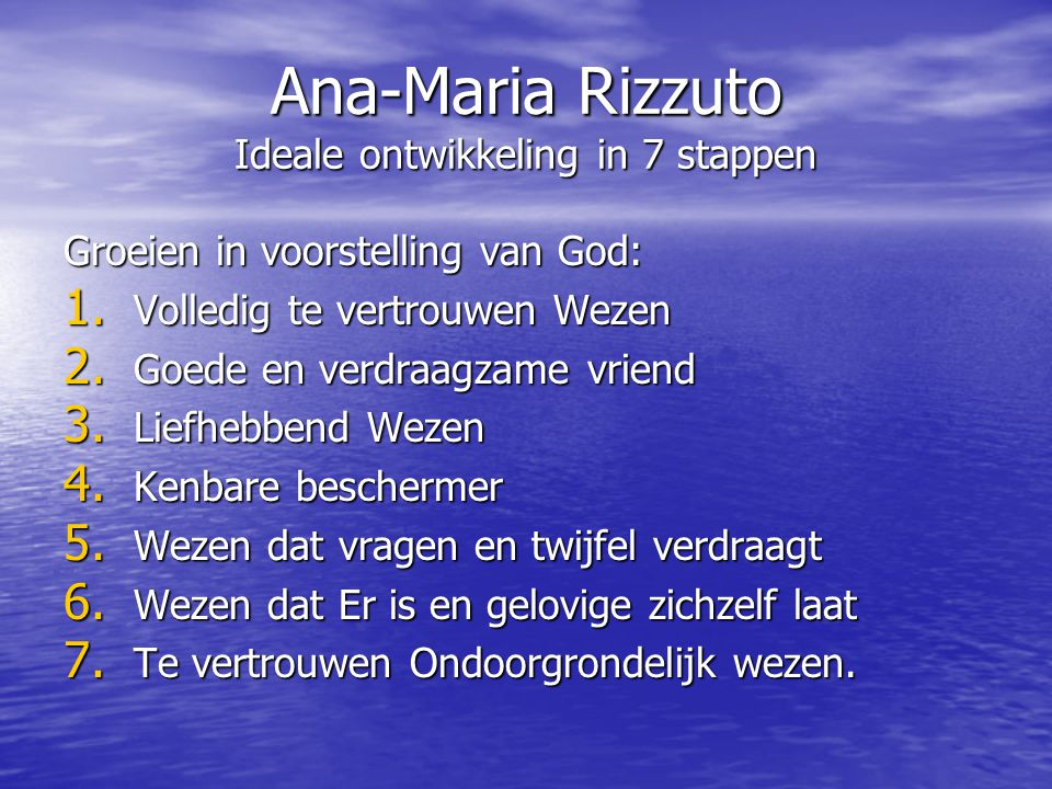 Ana-Maria Rizzuto Ideale ontwikkeling in 7 stappen