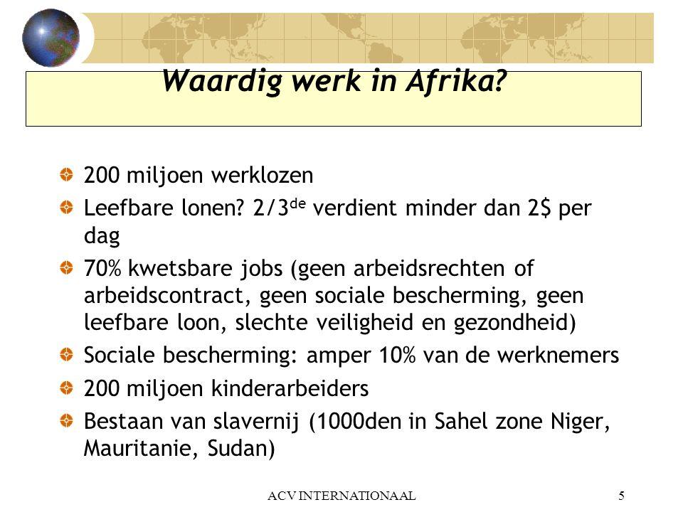 Waardig werk in Afrika 200 miljoen werklozen