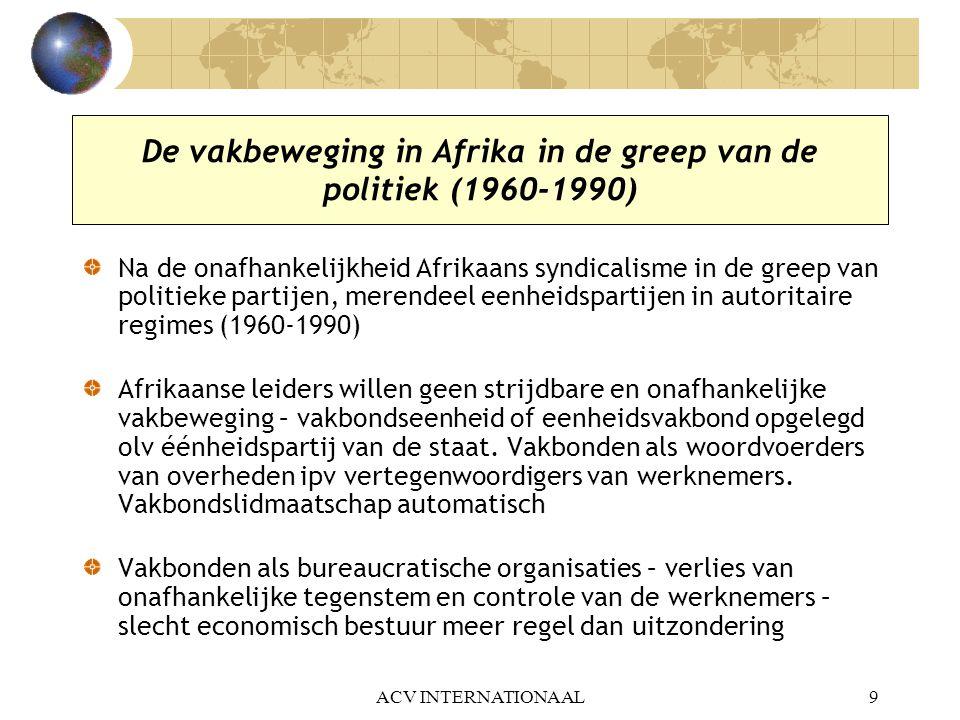 De vakbeweging in Afrika in de greep van de politiek (1960-1990)