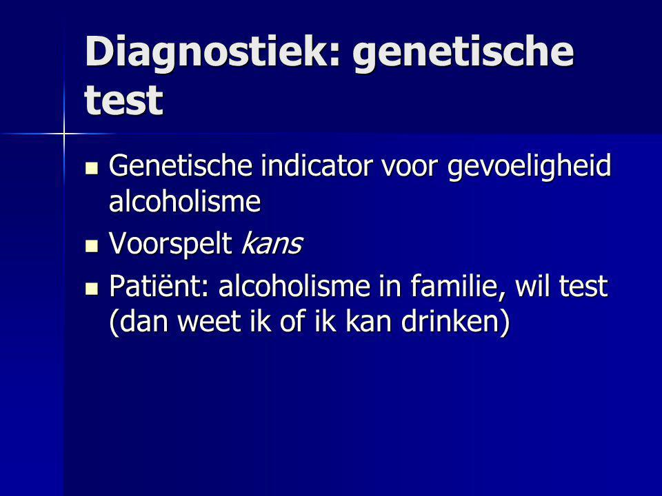 Diagnostiek: genetische test