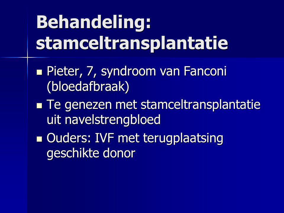 Behandeling: stamceltransplantatie