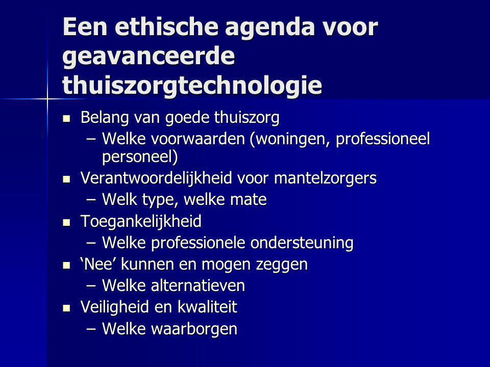 Een ethische agenda voor geavanceerde thuiszorgtechnologie